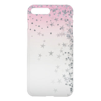 Pink Powder Pastel Ombre Silver Glitter Stars iPhone 8 Plus/7 Plus Case