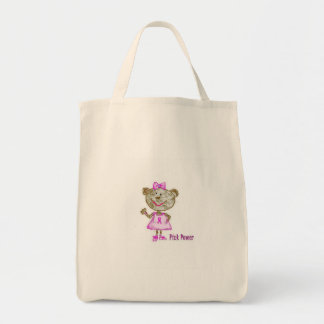 Pink Power Monkey Tote Canvas Bag