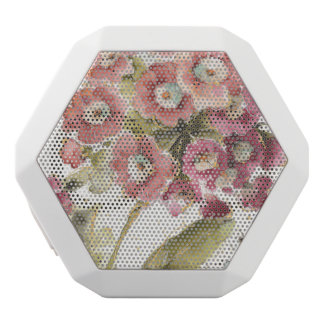 Pink Primrose White Bluetooth Speaker