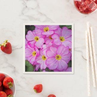 Pink Primula Paper Napkins