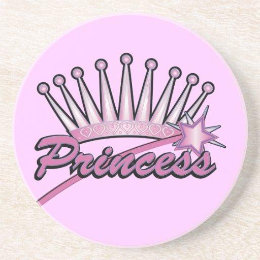 Pink Princes Crown Coasters