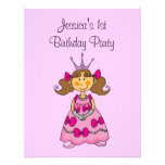 Pink princess 1st birthday party personalised