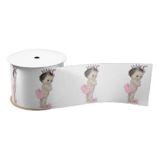Pink Princess Baby Girl Shower Satin Ribbon