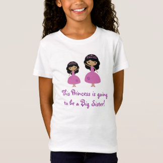 Pink Princess Big Sister - Dark Skin T-Shirt