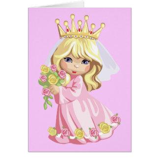 Pink Princess Birthday Cards