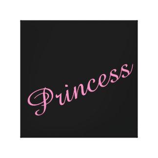 Pink Princess Canvas Canvas Print
