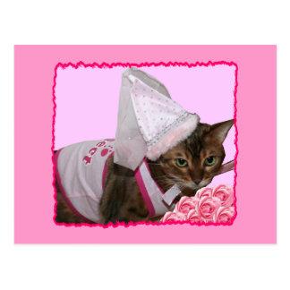 Pink Princess Cat Postcards