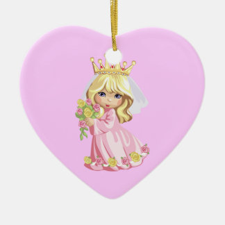 Pink Princess Christmas Ornament