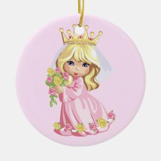 Pink Princess Christmas Ornament