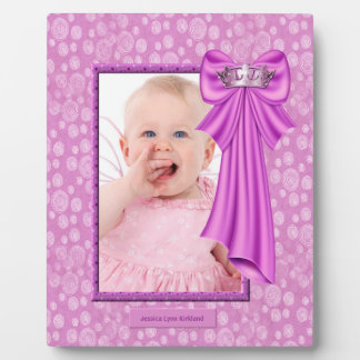 Pink Princess Crown Baby Photo Frame Plaque