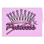 Pink Princess Crown Card