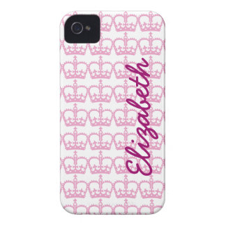 Pink Princess Crown iPhone 4 Cases