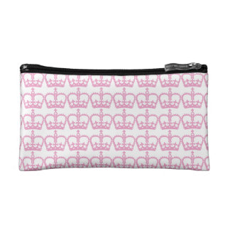 Pink Princess Crown Makeup Bag