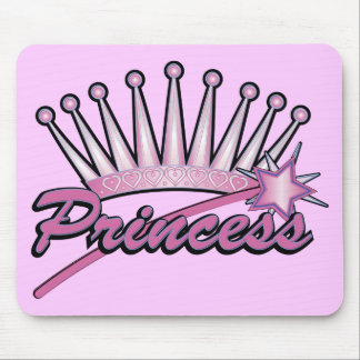 Pink Princess Crown Mouse Mat
