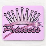 Pink Princess Crown Mouse Pad