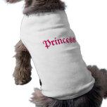 Pink Princess Customisable Dog Tee Shirt