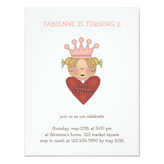 Pink Princess · Daddy's Lil' Princess 11 Cm X 14 Cm Invitation Card