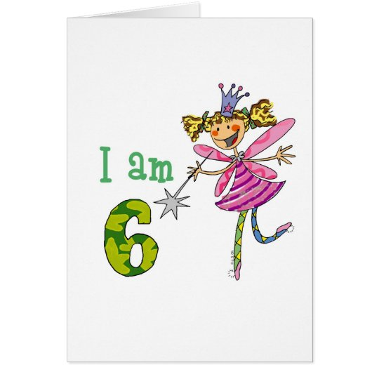 Pink princess fairy card