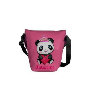Pink Princess Panda Messenger Kids Bag Cute Gift Courier Bag