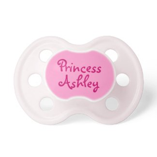 Pink Princess Personalised Name Baby Girl Pacifier