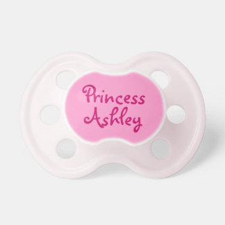 Pink Princess Personalized Name Baby Girl Pacifier