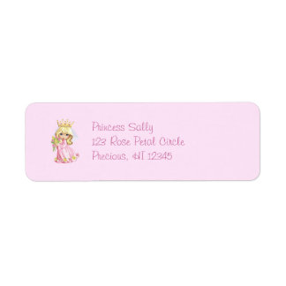 Pink Princess Personalized Return Address Label