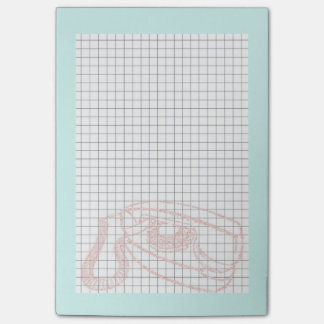 Pink Princess Phone post it note with grid Post-it® Notes