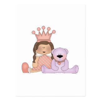 Pink Princess · Princess & Teddy Postcard