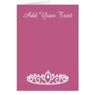 Pink Princess Sweet Sixteen Tiara Invitation