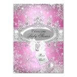 Pink Princess Winter Wonderland Baby Shower Invite