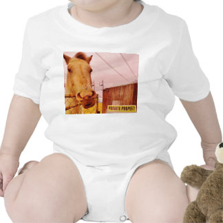 Pink Private Property Horse Shirts