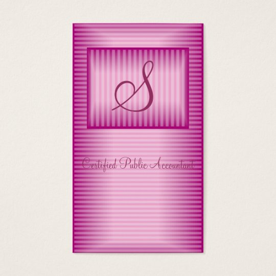 Pink Professional Profile Business Card