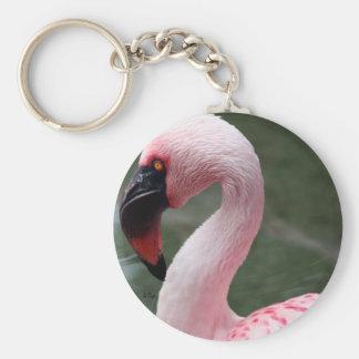 Pink Profile Key Ring