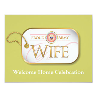 Pink Proud Army Wife Card