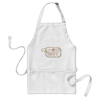 Pink Proud Army Wife Standard Apron