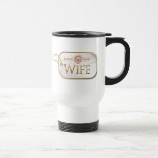 Pink Proud Army Wife Travel Mug