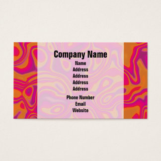 Pink Psychedelic Oil Pattern Business Card