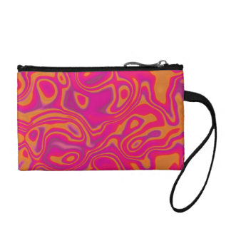 Pink Psychedelic Oil Pattern Coin Purse