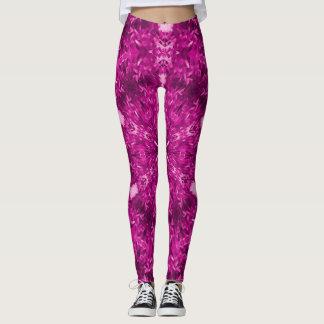 Pink Psychedelic Pattern Leggings
