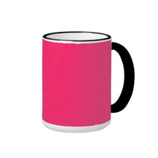 Pink Pucker-Hot Shocking Pink-Uptown Girl-Designer Ringer Mug
