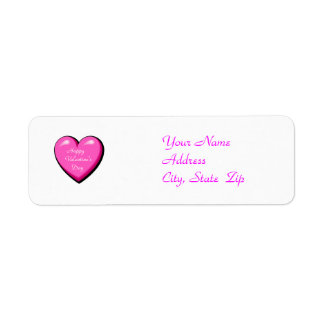 Pink Puffy Heart - Address Labels