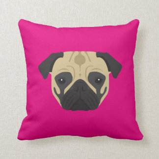 Pink Pug Cushion