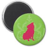 Pink Pug Fridge Magnets