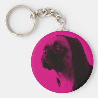 Pink Pug Keychains
