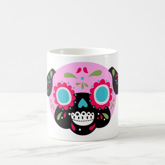 Pink Pug Sugar Skull Design Coffee Mug