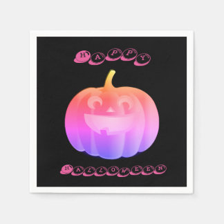 Pink Pumpkin Halloween Disposable Napkin