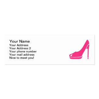 Pink pumps pack of skinny business cards