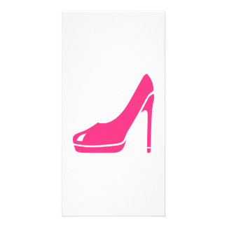 Pink pumps personalised photo card