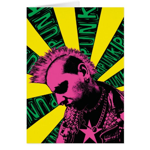 Pink Punk Rock Card