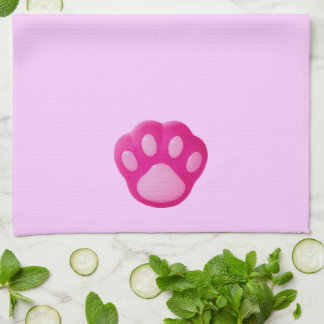 Pink Puppy Paw Towels